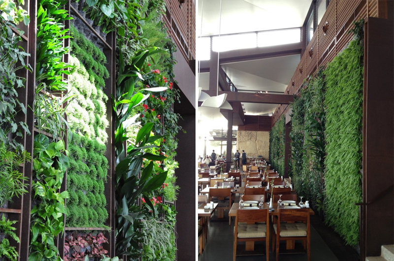 Green wall of the sultan ibrahim rest hkz mena design